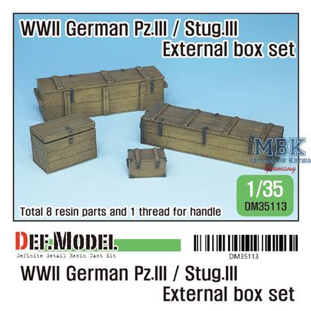 German Pz.III/StuG III Extra stowage box set