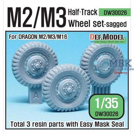 WW2 U.S M2/M3 Halftrack Front Wheel set