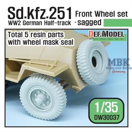 Sd.Kfz.251 Half-Track Sagged Front Wheel set