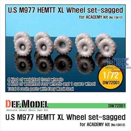 "M977 HEMTT ""XL"" Sagged Wheel set"