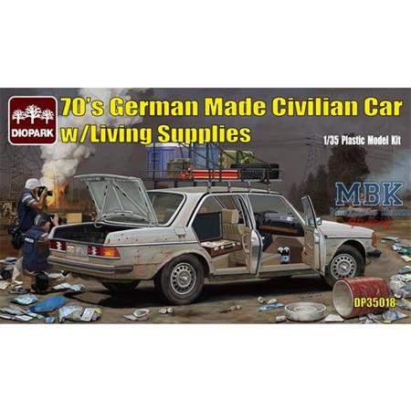 70's  Civilian Car Mercedes W123 with supply