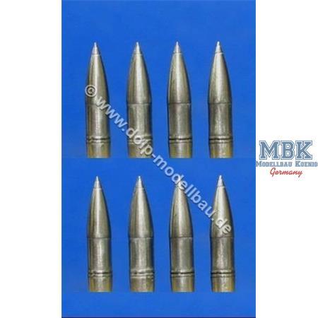 155mm Granaten mit Zünder