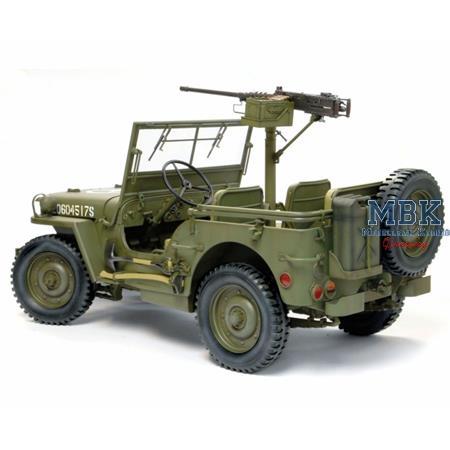 US 1/4 Ton 4x4 Truck w/M2 .50 cal MG  1:6