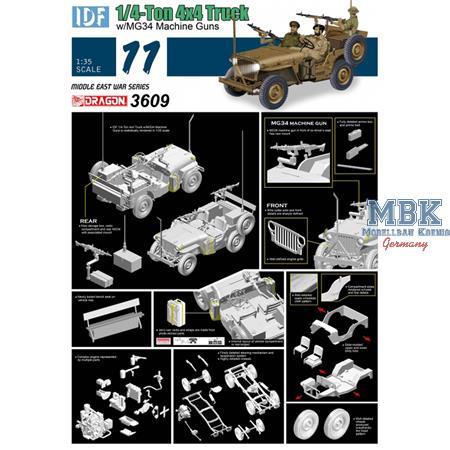 IDF 1/4 ton 4x4 Truck w/MG34    6 day war
