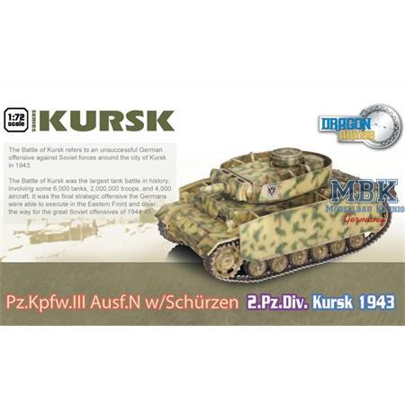Pz. Kwpf. III Ausf. N w/ Schürzen 2. Pz Div.Kursk