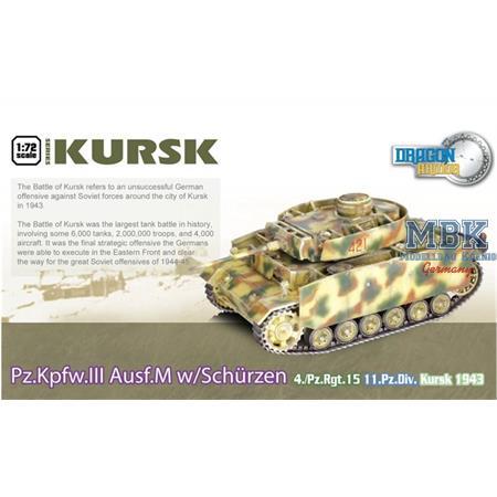 Pz.Kwpfw. III Ausf. M w/Schürzen 11.Pz Div. Kursk