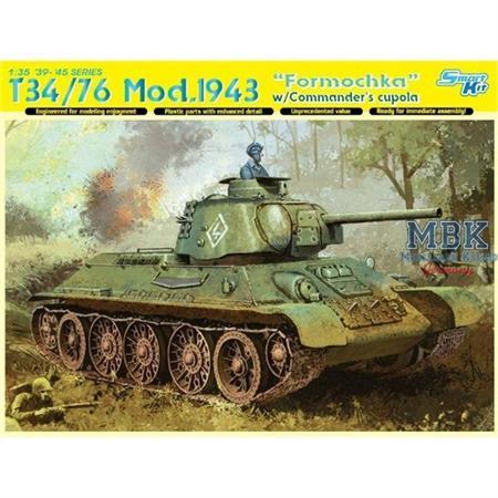"T34/76 Mod.1943 ""Formochka"" w/Commander's Cupola"
