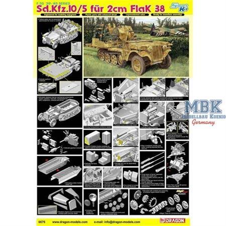 Sd.Kfz.10/5 für 2cm Flak 38 ~ Smart Kit