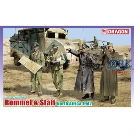 Rommel & Staff, North Africa 1942