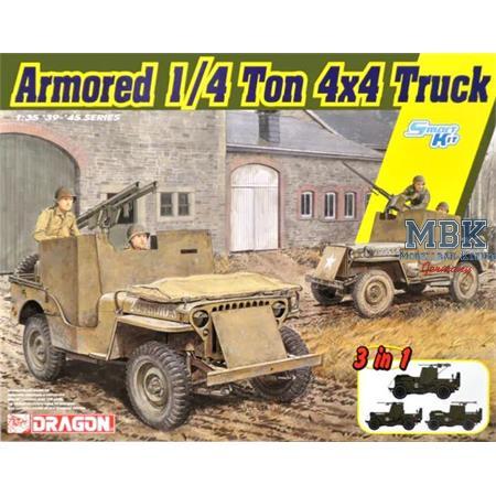 Armored 1/4 ton 4x4 Truck w/.50 cal
