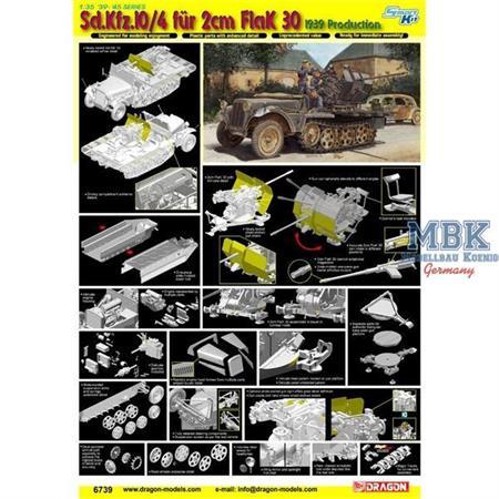 Sd.Kfz. 10/4 für 2cm FlaK 30 ~ Smart Kit