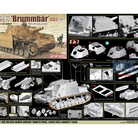 Sd. Kfz. 166 Sturmpanzer IV Brummbär  2 in 1