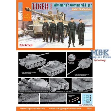Tiger I early Production Wittmann´s S04   1/72