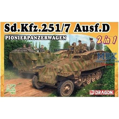 Sd Kfz 251/7 Ausf D Pionier  1/72