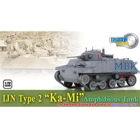 """IJN Type 2 """"KA-MI"""" Amphibious Tank, Saipan 1944"""