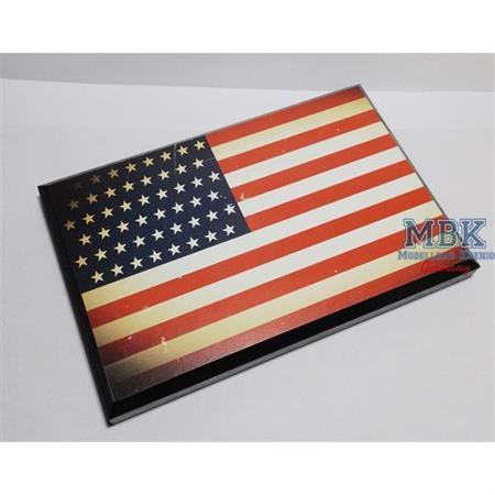 Flaggensockel, USA, 17x11cm