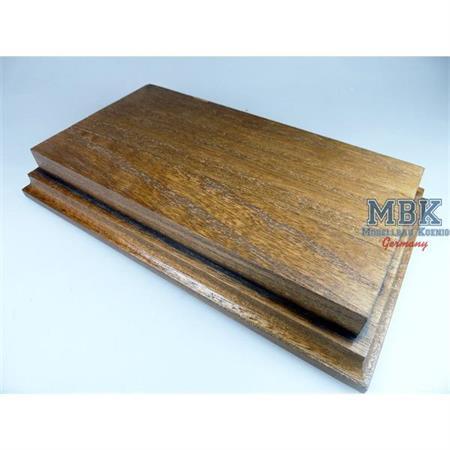 Holzsockel, hoch, 21x11cm, Nussbaum gebeizt