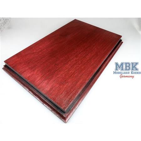 Holzsockel, hoch, 35x22cm (37,5x24,5), Mahagoni