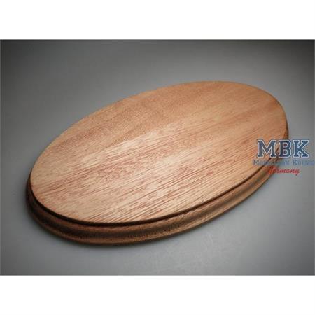 Holzsockel, oval, 29,5x16,5cm (31x18), Mahagoni
