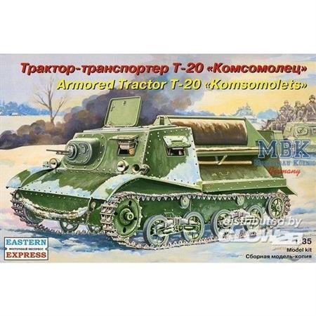 russ. armoured artillery tractor T-20