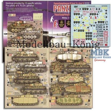 4.Pz.Div. Panzer IV Ausf. G, H + Luchs