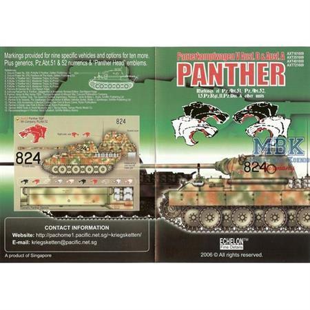 Panther D/A Pz.Abt.51/52 & 15.Pz.Rgt.
