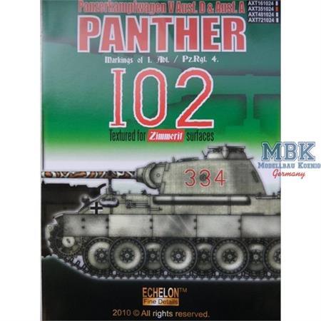 1. Abt / Pz.Rgt. 4 - Panther Ausf. D & A