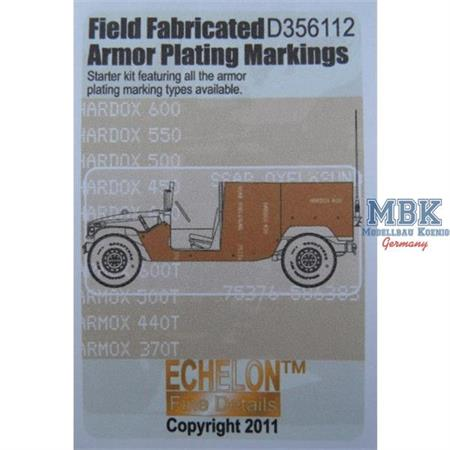 Field Fabricated Armour Plating Markings