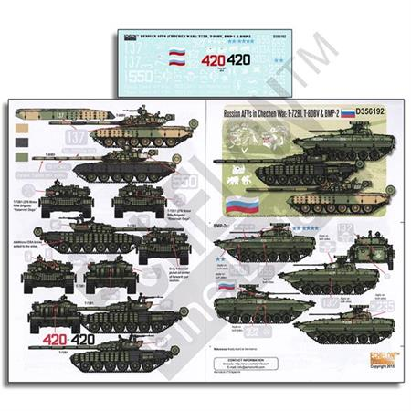 Russian AFVs in Chechen War: T-72B1,T-80BV & BMP-2