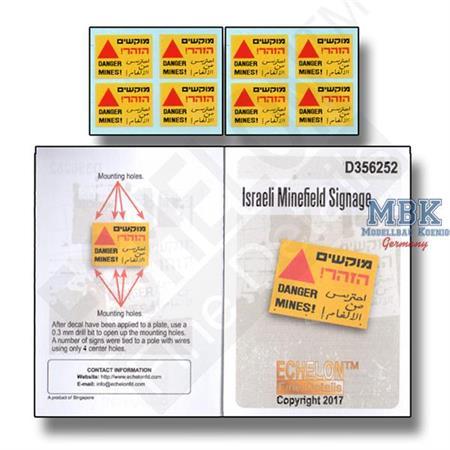 Israeli Minefield Signage