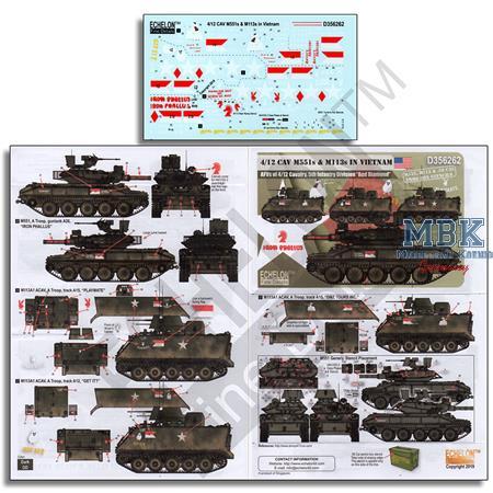 4/22 CAV M551 s & M113 s in Vietnam