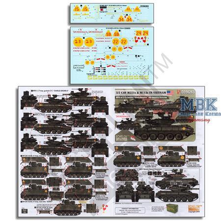 3/5 CAV M551 s & M113 s in Vietnam