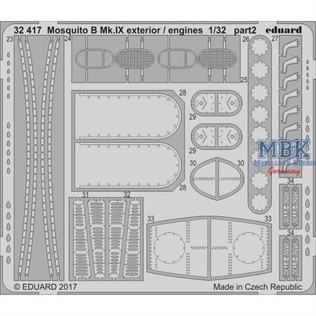 Mosquito B Mk. IX exterior / engines 1/32