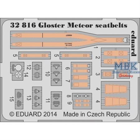 Gloster Meteor seatbelts