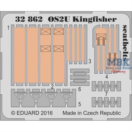 OS2U Kingfisher seatbelts