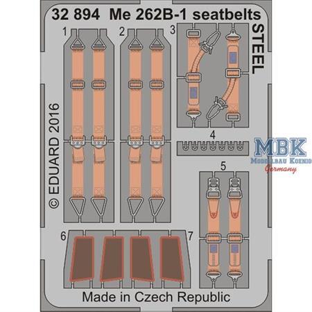 Me 262B-1 seatbelts STEEL 1/32