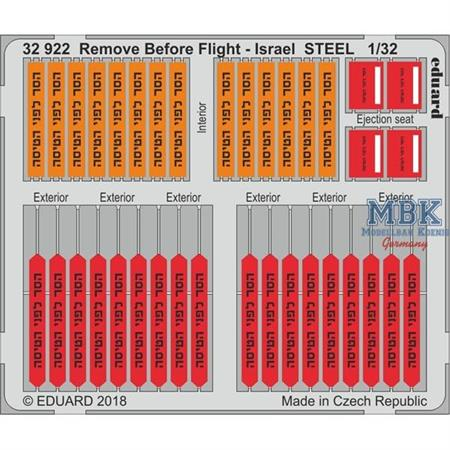 Remove Before Flight - Israel STEEL 1:32
