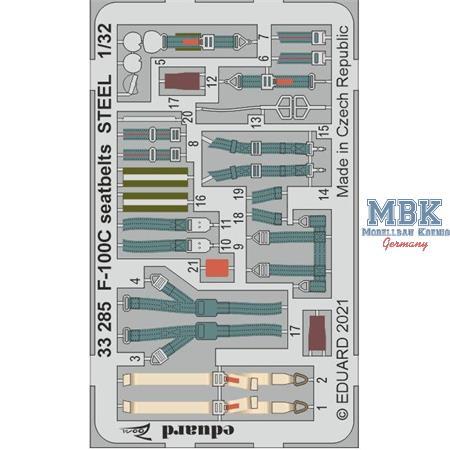 F-100C Seatbelts STEEL 1/32