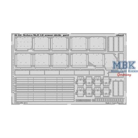 Merkava Mk.IV LIC armour shields