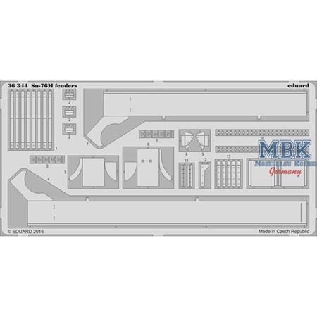 Su-76M fenders