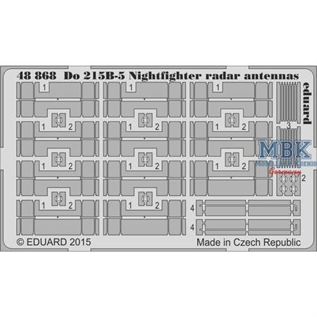 Do 215B-5 Nightfighter radar antennas