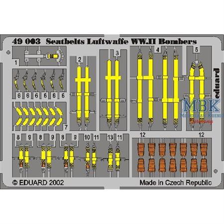 Seatbelts Luftwaffe WWII Bombers 1/48