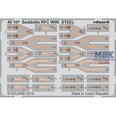 Seatbelts RFC  WWI STEEL  1:48