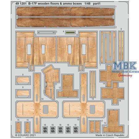 B-17F Wooden Floors & Ammo Boxes  1/48