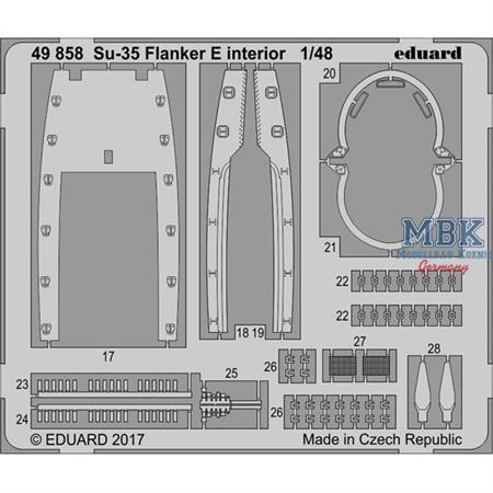 Su-35 Flanker E  interior 1/48