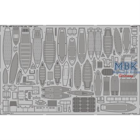 HMS Hood pt. 4 life rafts  1/200