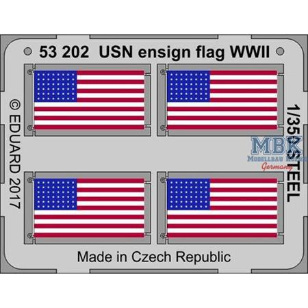 USN Ensign flag WW2 STEEL  1/350
