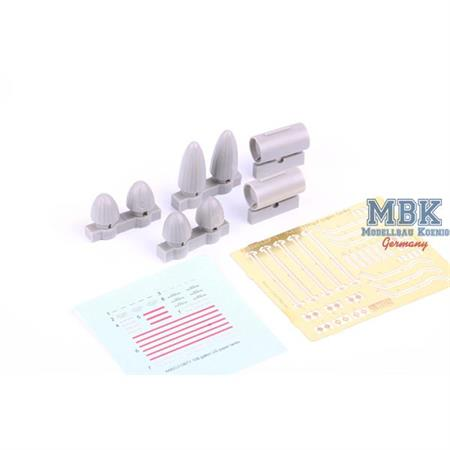 P-51D 108gal paper fuel tanks  1/48