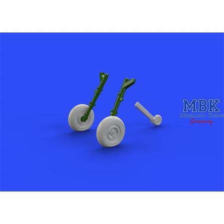 Spitfire Mk. IX wheels 4 spoke, smooth tire 1/72