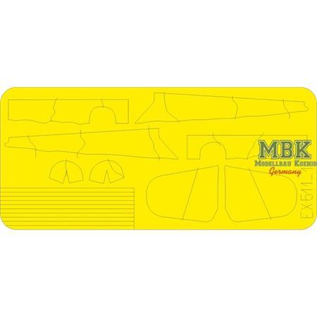 Bf 109G camo scheme WNF Werke Masking Tape  1/48
